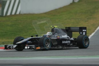 World © Octane Photographic Ltd. GP2 Winter testing, Barcelona, Circuit de Catalunya, 5th March 2013. Venezuela GP Lazarus – Kevin Giovesi. Digital Ref: 0585lw1d1953