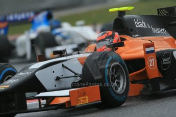 World © Octane Photographic Ltd. GP2 Winter testing, Barcelona, Circuit de Catalunya, 6th March 2013. MP Motorsport – Daniel de Jong. Digital Ref: 0586lw1d2626