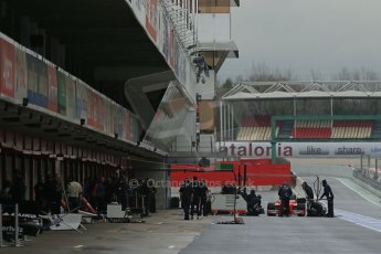 World © Octane Photographic Ltd. GP2 Winter testing, Barcelona, Circuit de Catalunya, 6th March 2013.Pit Lane atmosphere. Digital Ref: 0586lw1d2829