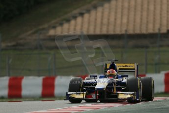 World © Octane Photographic Ltd. GP2 Winter testing, Barcelona, Circuit de Catalunya, 7th March 2013. Carlin – Felipe Nasr. Digital Ref: 0587lw1d3692