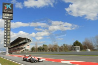 World © Octane Photographic Ltd. GP2 Winter testing, Barcelona, Circuit de Catalunya, 7th March 2013. ART Grand Prix – James Calado. Digital Ref: 0587lw7d2187