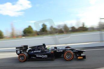 World © Octane Photographic Ltd. GP2 Winter testing, Barcelona, Circuit de Catalunya, 7th March 2013. Venezuela GP Lazarus – Rene Binder. Digital Ref: 0587lw7d2232