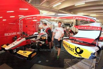 World © Octane Photographic Ltd. GP2 Monaco GP, Monte Carlo, Thursday 23rd May 2013. Practice and Qualifying. James Calado – ART Grand Prix and Daniel Abt Monaco car park garage. Digital Ref : 0693cb7d0763