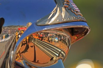 World © Octane Photographic Ltd. GP2 Monaco GP, Monte Carlo, Thursday 23rd May 2013. Practice and Qualifying. Jake Rosenzweig - Barwa Addax Team reflected in a fire marshal's visor. Digital Ref : 0693cb7d0843