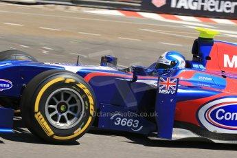 World © Octane Photographic Ltd. GP2 Monaco GP, Monte Carlo, Thursday 23rd May 2013. Practice and Qualifying. Jolyon Palmer - Carlin. Digital Ref : 0693lw1d7432
