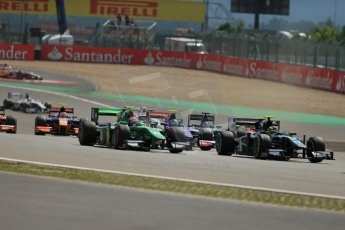 World © Octane Photographic Ltd. GP2 German GP, Nurburgring, 6th July 2013. Race 1. Jolyon Palmer - Carlin. Digital Ref : 0746lw1d7637