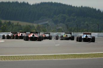 World © Octane Photographic Ltd. GP2 German GP, Nurburgring, 6th July 2013. Race 1. The opening lap action. Digital Ref : 0746lw1d7655