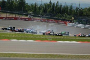 World © Octane Photographic Ltd. GP2 German GP, Nurburgring, 6th July 2013. Race 1. The opening lap action. Digital Ref : 0746lw1d7665