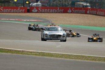 World © Octane Photographic Ltd. GP2 German GP, Nurburgring, 6th July 2013. Race 1. The safety car leads Ericsson, Richelmi and Nasr. Digital Ref : 0746lw1d7711