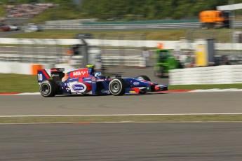 World © Octane Photographic Ltd. GP2 German GP, Nurburgring, Sunday 7th July 2013. Race 2. Jolyon Palmer - Carlin. Digital Ref : 0747lw1d4814