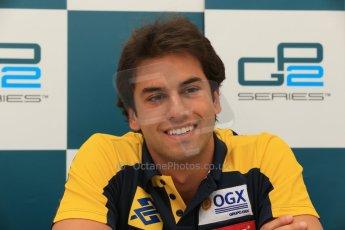 World © Octane Photographic Ltd. GP2 Spanish GP, Circuit de Catalunya, Friday 10th May 2013. Qualifying press conference. 3rd - Felipe Nasr - Carlin. Digital Ref : 0663cb1d9992