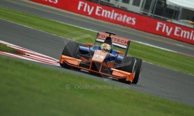 World © Octane Photographic Ltd. GP2 British GP, Silverstone, Friday 28th June 2013. Practice. Robin Frijns - Hilmer Motorsport. Digital Ref : 0725cj7d0765