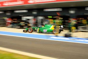 World © Octane Photographic Ltd./Chris Enion. GP2 British GP, Silverstone, Saturday 29th June 2013. Race 1. Sergio Canamasas – EQ8 Caterham Racing. Digital Ref: 0731ce1d8537