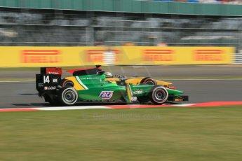 World © Octane Photographic Ltd. GP2 British GP, Silverstone, Sunday 30th June 2013. Race 2 Sergio Canamasas – EQ8 Caterham Racing and Marcus Ericsson - DAMS. Digital Ref: 0732lw1d2133
