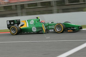 World © Octane Photographic Ltd. GP2 Spanish GP, Circuit de Catalunya, Saturday 11th May 2013. Qualifying. Alexander Rossi – Caterham. Digital Ref : 0662cb1d9888