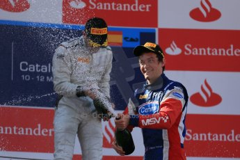 World © Octane Photographic Ltd. GP2 Spanish GP, Circuit de Catalunya, Saturday 11th May 2013. Race 1. Jolyon Palmer - Carlin. Digital Ref : 0666cb1d1775