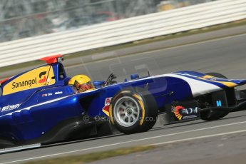 World © Octane Photographic Ltd. GP3 Testing - Wednesday 3rd April 2013 Dallara GP3/13 - Silverstone. Carlin – Luis Sa Silva. Digital ref : 0627lw1d0852