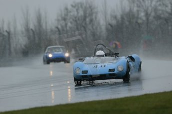 World © Octane Photographic Ltd. Donington Park 80th Anniversary Meeting (March 1933 – March 2013). HSCC Guards Trophy Car Championship supported by Dunlop Tyres. Simon Durling – Elva Mk4S. Digital Ref : 0600lw1d6056