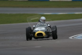 World © Octane Photographic Ltd. Donington Park 80th Anniversary Meeting (March 1933 – March 2013). HSCC/FJHRA Historic Formula Junior Championship – Race A Front Engine, morning practice and qualifying. Mark Woodhouse – Elva 100. Digital Ref : 0598lw1d5189
