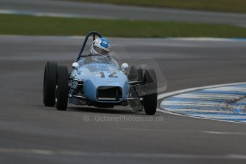 World © Octane Photographic Ltd. Donington Park 80th Anniversary Meeting (March 1933 – March 2013). HSCC/FJHRA Historic Formula Junior Championship – Race A Front Engine, morning practice and qualifying. Stuart Roach – Alexis Mk2. Digital Ref : 0598lw1d5246