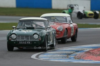 World © Octane Photographic Ltd. Donington Park 80th Anniversary Meeting (March 1933 – March 2013). HSCC Historic Road Sports Championship supported by Witchampton Garage (Inc. Class B2 Guards Trophy), morning practice and qualifying. Andy Somerville - Triumph TR4. Digital Ref : 0599lw1d5447