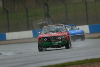 World © Octane Photographic Ltd. Donington Park 80th Anniversary Meeting (March 1933 – March 2013). HSCC 70s Road Sport Championship (Inc. Class B2 Guards Trophy). David Erwin – Alfa Romeo 2000 GTV and David Tomkinson – Triumph Spitfire. Digital Ref : 0590lw1d6115