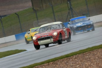 World © Octane Photographic Ltd. Donington Park 80th Anniversary Meeting (March 1933 – March 2013). HSCC 70s Road Sport Championship (Inc. Class B2 Guards Trophy). Andrew Bentley – MGB and Charles Barter – Datsun 240Z. Digital Ref : 0590lw1d6262