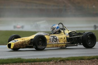 World © Octane Photographic Ltd. Donington Park 80th Anniversary Meeting (March 1933 – March 2013). HSCC Historic Formula Ford Championship in association with Avon Tyres. Josh West – Merlyn Mk20A looking a bit mud spattered. Digital Ref : 0591lw1d6413