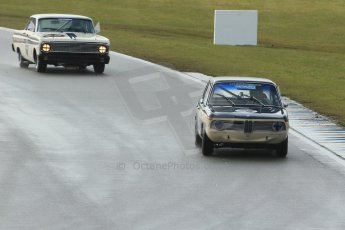 World © Octane Photographic Ltd. Donington Park 80th Anniversary Meeting (March 1933 – March 2013). HSCC/HRSR ByBx Historic Touring Car Championship.  Colin Kingsnorth – BMW 1800 Tisa and Gary Wright – Ford Falcon. Digital Ref : 0592lw1d6674