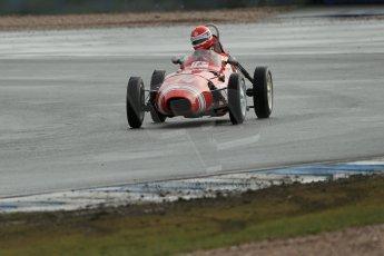 World © Octane Photographic Ltd. Donington Park 80th Anniversary Meeting (March 1933 – March 2013). HSCC/FJHRA Historic Formula Junior Championship – Race A Front Engine. Crispian Besley – Elva 100. Digital Ref :