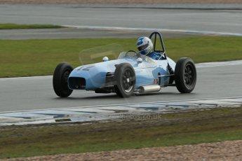 World © Octane Photographic Ltd. Donington Park 80th Anniversary Meeting (March 1933 – March 2013). HSCC/FJHRA Historic Formula Junior Championship – Race A Front Engine. Stuart Roach – Alexis Mk2. Digital Ref :