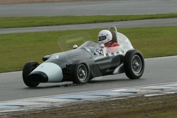 World © Octane Photographic Ltd. Donington Park 80th Anniversary Meeting (March 1933 – March 2013). HSCC/FJHRA Historic Formula Junior Championship – Race A Front Engine. Justin Fleming – Lola MkII. Digital Ref : 0593lw1d6855