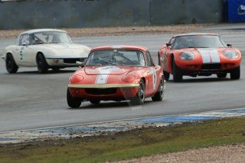 World © Octane Photographic Ltd. Donington Park 80th Anniversary Meeting (March 1933 – March 2013). HSCC Historic Road Sports Championship supported by Witchampton Garage (Inc. Class B2 Guards Trophy). Larry Kennedy – Lotus Elan S4, Chris Keen - Marcos 1800GT and Peter Shaw – Lotus Elan S1. Digital Ref : 0594lw1d6890