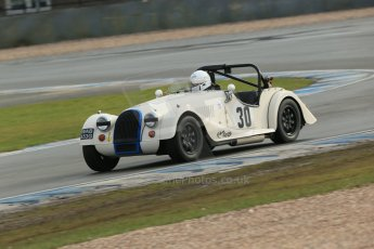 World © Octane Photographic Ltd. Donington Park 80th Anniversary Meeting (March 1933 – March 2013). HSCC Historic Road Sports Championship supported by Witchampton Garage (Inc. Class B2 Guards Trophy). Tim Pearce – Morgan Plus 8. Digital Ref : 0594lw1d6965
