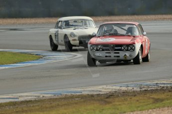 World © Octane Photographic Ltd. Donington Park 80th Anniversary Meeting (March 1933 – March 2013). HSCC Historic Road Sports Championship supported by Witchampton Garage (Inc. Class B2 Guards Trophy). Johan Denekamp – Alfa Romeo GTV and Steve Naish – MGB. Digital Ref : 0594lw1d7021