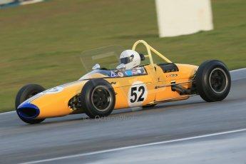 World © Octane Photographic Ltd. Donington Park 80th Anniversary Meeting (March 1933 – March 2013). HSCC/FJHRA Historic Formula Junior Championship – Race B, Rear Engine cars, Classes C-E. James Claridge Lola Mk5A. Digital Ref : 0596lw1d7344