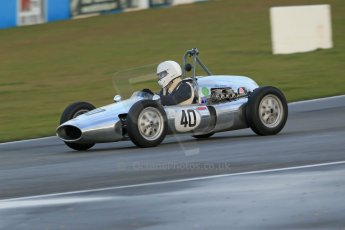 World © Octane Photographic Ltd. Donington Park 80th Anniversary Meeting (March 1933 – March 2013). HSCC/FJHRA Historic Formula Junior Championship – Race B, Rear Engine cars, Classes C-E. Chris Wilkes – Deep Sanderson DS104. Digital Ref : 0596lw1d7402