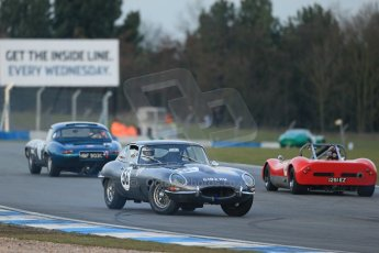 World © Octane Photographic Ltd. Donington Park 80th Anniversary Meeting (March 1933 – March 2013). HSCC Guards Trophy Car Championship supported by Dunlop Tyres. Peter Lanfranchi – Jaguar E-Type. Digital Ref : 0597lw1d7547