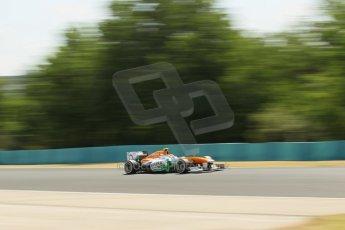 World © Octane Photographic Ltd. F1 Hungarian GP - Hungaroring. Friday 26th July 2013. F1 Practice 2. Sahara Force India VJM06 - Adrian Sutil. Digital Ref : 0760lw1d0545