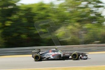 World © Octane Photographic Ltd. F1 Hungarian GP - Hungaroring. Friday 26th July 2013. F1 Practice 2. Sauber C32 - Esteban Gutierrez. Digital Ref : 0760lw1d0561