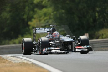 World © Octane Photographic Ltd. F1 Hungarian GP - Hungaroring. Friday 26th July 2013. F1 Practice 2. Sauber C32 - Nico Hulkenberg. Digital Ref : 0760lw1d1624
