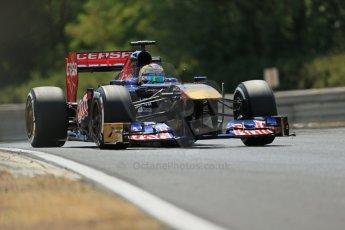 World © Octane Photographic Ltd. F1 Hungarian GP - Hungaroring. Friday 26th July 2013. F1 Practice 2. Scuderia Toro Rosso STR8 - Jean-Eric Vergne. Digital Ref : 0760lw1d1665