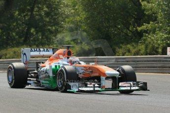 World © Octane Photographic Ltd. F1 Hungarian GP - Hungaroring. Thursday  25th July 2013. F1 Practice 2. Sahara Force India VJM06 - Paul di Resta. Digital Ref : 0760lw1d1727
