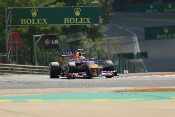 World © Octane Photographic Ltd. F1 Hungarian GP - Hungaroring. Friday 26th July 2013. F1 Practice 2. Infiniti Red Bull Racing RB9 - Sebastian Vettel. Digital Ref : 0760lw1d1867