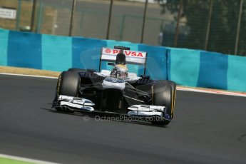 World © Octane Photographic Ltd. F1 Hungarian GP - Hungaroring. Friday 26th July 2013. F1 Practice 2. Williams FW35 - Pastor Maldonado. Digital Ref : 0760lw1d1895