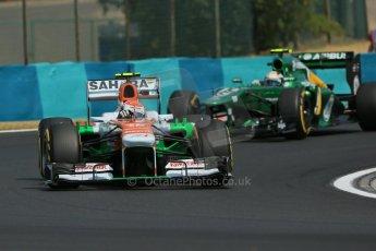 World © Octane Photographic Ltd. F1 Hungarian GP - Hungaroring. Friday 26th July 2013. F1 Practice 2. Sahara Force India VJM06 - Adrian Sutil. Digital Ref : 0760lw1d1945