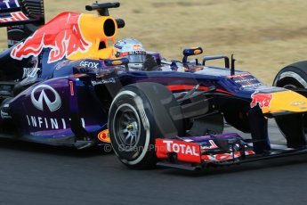 World © Octane Photographic Ltd. F1 Hungarian GP - Hungaroring. Friday 26th July 2013. F1 Practice 2. Infiniti Red Bull Racing RB9 - Sebastian Vettel. Digital Ref : 0760lw1d2145
