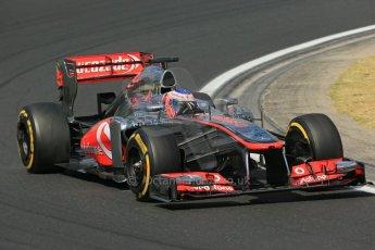 World © Octane Photographic Ltd. F1 Hungarian GP - Hungaroring. Friday 26th July 2013. F1 Practice 2. Vodafone McLaren Mercedes MP4/28 - Jenson Button. Digital Ref : 0760lw1d2224