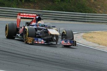 World © Octane Photographic Ltd. F1 Hungarian GP - Hungaroring. Saturday 27th July 2013. F1 Qualifying. Scuderia Toro Rosso STR8 - Jean-Eric Vergne. Digital Ref : 0764lw1d4125