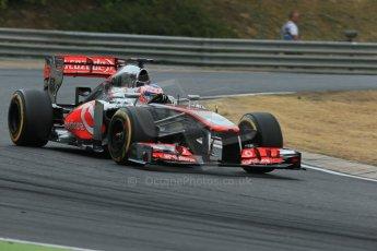 World © Octane Photographic Ltd. F1 Hungarian GP - Hungaroring. Saturday 27th July 2013. F1 Qualifying. Vodafone McLaren Mercedes MP4/28 - Jenson Button. Digital Ref : 0764lw1d4162